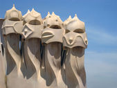 Architectural detail in Barcelona — Stock Photo