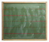 Blackboard with red lines — Stock Photo