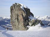 лыжная трасса в montafon — Стоковое фото