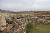 Шотландский каменной стеной в сельской атмосфере — Стоковое фото