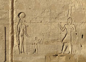 Relief at the Esana temple in Egypt — Stock Photo