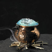 Blue magic potion — Stock Photo