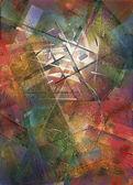 Abstraktní malované pozadí — Stock fotografie