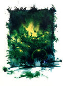 Mystic jungle theme — Stock Photo