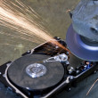 Royalty-Free Stock Photo: Hard disk grinding