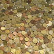Background with euro coins — Stock Photo
