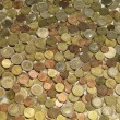 Background with euro coins - Stock Photo