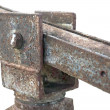 Foto de Stock  : Corroded hinge detail