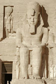 Ramesses at Abu Simbel temples in Egypt — Stock Photo