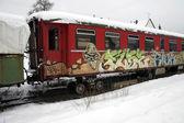 Vecchia automobile ferroviario — Foto Stock
