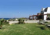 Tourist resort in Greece — Stock Photo