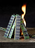 Burning RAM — Stock Photo