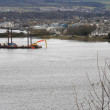 Stock Photo: River Ness and ship