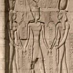 Relief Detail Chnum Tempel — Stockfoto