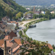 Miltenberg aerial view at summer time - Stock Photo