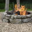 Outdoor fireplace — 图库照片