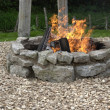 Stock Photo: Outdoor fireplace