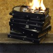 Burning hard disks - 图库照片