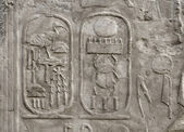 Relief at Luxor Temple in Egypt — Stock Photo
