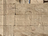 Relief at the Temple of Edfu in Egypt — Stock Photo