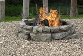 Outdoor fireplace — Stock Photo