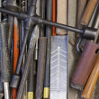 Various hand tools background — Stock Photo #7655495