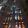 Window inside Sagrada Familia — Stock Photo