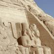 Detail of the Abu Simbel temples - Stock Photo