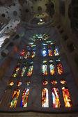 Window inside Sagrada Familia — Stock Photo