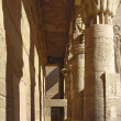 Passage at the Temple of Philae in Egypt - Stock Photo