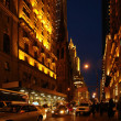 New York City Street at Night — Stock Photo