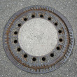 Round manhole cover — Stock Photo