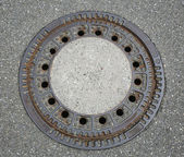 Round manhole cover — Foto Stock
