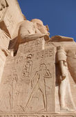 Ramses sculpture in Abu Simbel — Stockfoto