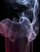 Pastel colored smoke detail — Stock Photo