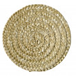 Plaited round mat — Stock Photo