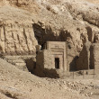 Stock Photo: Rock cut tomb near Mortuary Temple of Hatshepsut