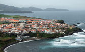 Coastal settlement at the Azores — Stock Photo