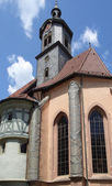 Church in Marbach at summer time — Stock Photo