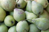 Background with lots of green pears — Stock Photo