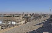 Tamy asuańskiej z elektrowni wodnych w egipcie — Zdjęcie stockowe