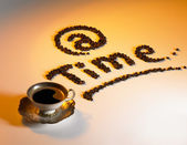 At coffee time — Stock Photo