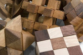 Wooden 3D puzzles — Stock Photo