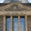 Detail of the Reichstag in Berlin with cupola - Stock Photo