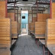 Royalty-Free Stock Photo: Inside a old historic railway car