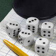 Royalty-Free Stock Photo: Gambling with dice