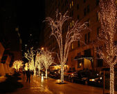 New York street scenery at Christmas time — Stock Photo