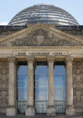 Detail of the Reichstag in Berlin with cupola — Stock Photo