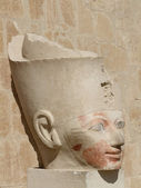 Ancient head of Hatschepsut — Stock Photo
