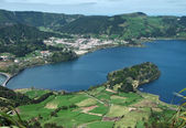 Lagoa das sete cidades at Sao Miguel Island — Stock Photo